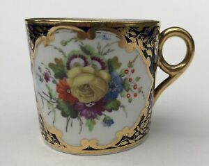 Fine Minton c1810 Coffee Can In Pattern 678 Antique English Porcelain