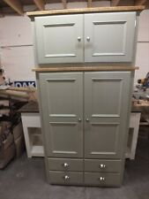 RUTLAND PAINTED LARDER CUPBOARD SPICE RACKS BESPOKE SIZES & COLOURS FRENCH GRAY