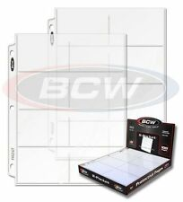 BCW Premium Pro 8 Pocket Page Sports Card Album/Binder Refill Protectors 20ct