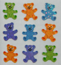 TEDDY BEAR #1 Glittery *VINTAGE* - Sandylion Stickers - FREE SHIPPING OFFER