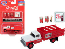 "1960 Ford Stake Bed Truck ""Coca-Cola"" Red and White with Two 1960's Vending Mach"