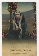 When I Survey The Wondrous Cross (2) Bamforth Postcard, B350