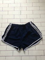MENS URBAN VINTAGE RETRO SPRINTER OLD SCHOOL NAVY BLUE SPORTS SHORTS SIZE S (80)