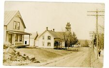 Grafton NY - HOUSES & CHURCH ON DIRT STREET - RPPC Postcard Rensselaer County