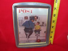 """Norman Rockwell """"The Runaway"""" 1958 The Saturday Evening Post Tin Tray Fs"""