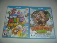 Super Mario 3D World & Donkey Kong Country Tropical Freeze Nintendo Wii U Wiiu