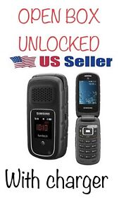 "Unlocked Samsung Rugby III SGH A997 GPS AT&T 3G 3MP gray 2.2"" Flip Phone"