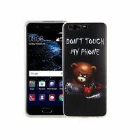 Téléphone Portable Housse Pour Huawei P10 Porter Don'T Touch Sac Étui Motif Fin