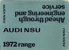 Audi NSU 1971-72 UK Market Foldout Sales Brochure Prinz 1000 1200 75 100 Ro80