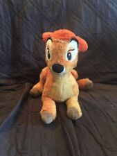 "Authentic Disney Store Exclusive 12"" Long Bambi Plush Stuffed Toy Animal Deer"