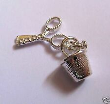 Argento Sterling Charm DITALE e forbici