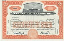 ELECTRIC BOAT COMPANY SPECIMEN STOCK CERTIFICATE RARE SUBMARINE NAVAL MILITARY