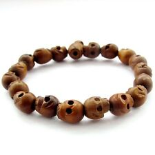 Tibet Buddhist Jujube Wood Skull Prayer Beads Mala Bracelet