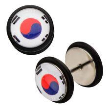 Inox World Cup Korea Stainless Steel Fake Plug Earrings