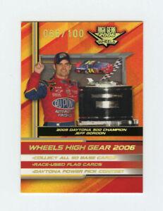 Jeff Gordon 2006 06 Wheels High Gear MPH Parallel Insert Card 066/100 #M90 CL