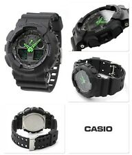 Black & Green Casio G-Shock Water Resistant Gents Sports Watch 2 Year Guarantee