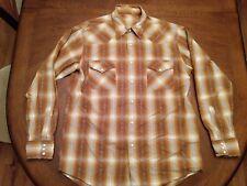 LUCKY BRAND Men's Sz L  Western Pearl Snap Shirt Plaid Long Sleeve