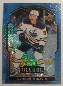 2020-21 UD ALLURE Connor McDAVID BLUE LINE SSP 18/35 Edmonton Oilers #50