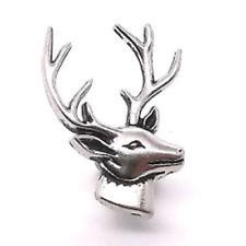 "M - Deer Head Right Facing Nickel Line 24 Decorative Snap Cap 1"""
