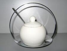 SHENANGO 3 Piece White Stainless Condiment Server Set