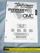 Johnson Evinrude 9.9HP, 15HP Models Outboard Boat Motor Parts Catalog
