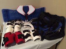 Taekwondo Karate Sparring Gear Children's Youth Set Pro Force Rhingo & Bag