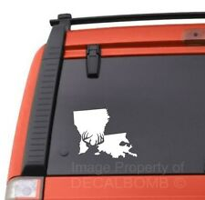 Louisiana deer hunting state decal sticker buck antler rifle bow hunt la rzr mud