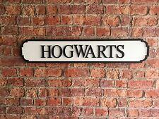 Vintage Wood Street Road Sign HOGWARTS