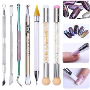 Double Head Nail Art Dotting Painting Pen Brush  Remover  Tools