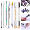 Dual-Ended Nail Art Dotting Painting Brush Pen Cuticle Remover Nails Care Tools