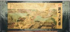 Traditional Chinese Painting Scroll with Silk Frame: Qing Ming Shang He Tu