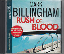 Mark Billingham Rush Of Blood MP3 CD Audio Book NEW Unabridged FASTPOST