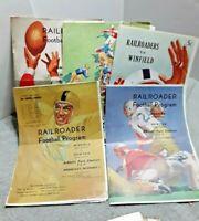 1947 Newton Railroaders High School Football Schedule Program Lot Coca Cola Ads