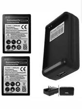 Charger for Samsung Galaxy Note SGH-i717 GT-i9220 GT-N7000ZBADBT w/ 2 batteries