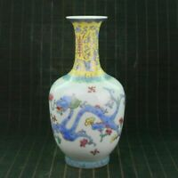 Chinese Porcelain Handmade Draw Exquisite Dragon Vase