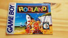 RARE ! RODLAND  = Notice - FAH -  Nintendo Gameboy Game Boy GB