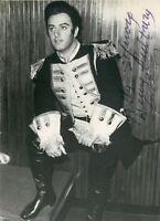 Opera - Autografo del tenore Carlo Bergonzi (Vidalenzo, 1924 - Milano, 2014)