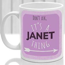 Janet's mug, Its a Janet thing (Pink)