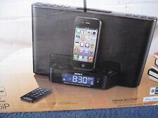Sony ICF-CS15iP Digital Clock, iPhone/ iPod Dock,AM/FM Radio DREAM MACHINE Black