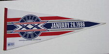 Vintage Football Pennant   1986  Super Bowl XX  New Orleans