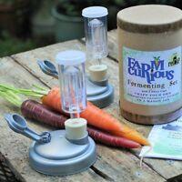 FARMcurious Vegetable Fermenting Pickling Pickled Mason Jar Starter Kit 2 Pack