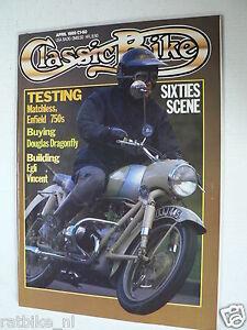 CLASSIC BIKE 1989-04,EGLI VINCENT,DOUGLAS DRAGONFLY,MATCHLESS,ENFIELD 750S,MUNRO