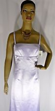 Nicole Miller Size 10 Womens Long Formal Dress Lilac Spaghetti Straps Lined Gown
