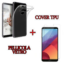 CUSTODIA COVER TPU per LG G6 H870 + PELLICOLA VETRO TEMPERATO