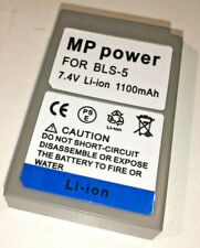 MP Power BLS5 / S50 Li-Ion battery ( Olympus BLS-5 ), 7.4v 1100mAh 8.3Wh