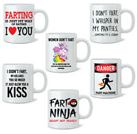 Funny Fart Mug Joke Tea Coffee Mug Cup Gift Poo Novelty 11oz White Mug