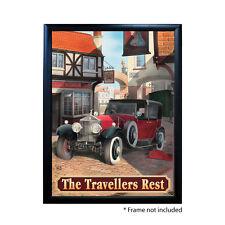TRAVELLERS REST PUB SIGN POSTER PRINT | Home Bar | Man Cave | Pub Memorabilia