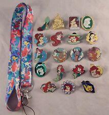 Ariel Little Mermaid Starter Lanyard Set w/ 5 Themed Disney Trading Pins ~ NEW