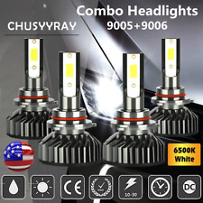 4pcs White 9005 + 9006 LED Headlight Bulb Hi/Lo Beam for 2009-2016 Dodge Journey