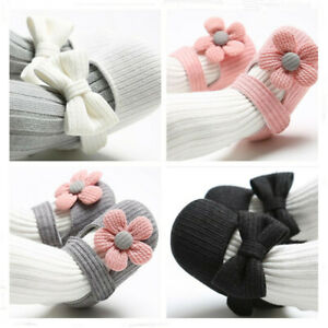Newborn Baby Girl Crib Shoes Infant Flowers Crawling Shoes Child First Trainers